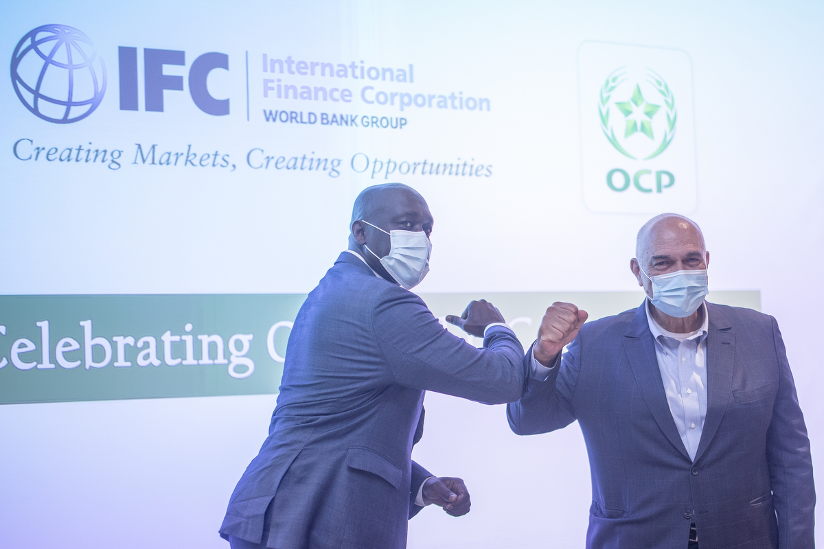 IFC AND OCP GROUP STRENGTHEN PARTNERSHIP TO SUPPORT  SUSTAINABLE FOOD SYSTEMS BY IMPROVING AGRICULTURAL  VALUE CHAIN IN AFRICA